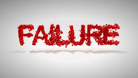 Red Failure word destruction Royalty Free Stock Photo