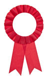 Red Fair Winner Ribbon Royalty Free Stock Image