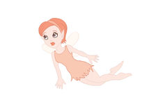 Red Fairy. Illustrations about a red flying little fairy Royalty Free Stock Photography