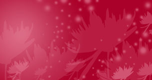 Red fairy-tale flowers. Spring-time inspired illustration for cards and backgrounds vector illustration