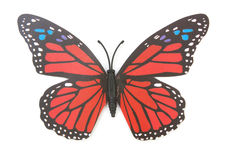 Red fake butterfly  Stock Image