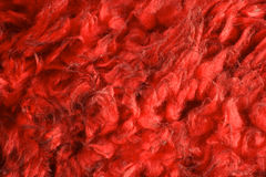 Red fake fur. With black highlights royalty free stock photos