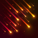 Red falling meteors vector background Royalty Free Stock Images