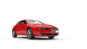 Red Family Car New Royalty Free Stock Image