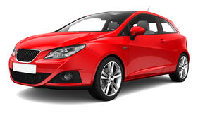 Red family car Stock Photography