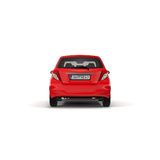 Red Family Hatchback Car isolated on white 3D Illustration Stock Image