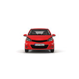 Red Family Hatchback Car  on white 3D Illustration Stock Photography
