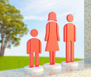 Red family icon Stock Image