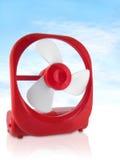 Red Fan. Small Red Fan against light blue sky; macro stock image