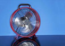 Red Fan on Blue Stock Image