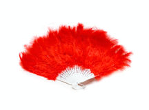 Red fan from feather royalty free stock image