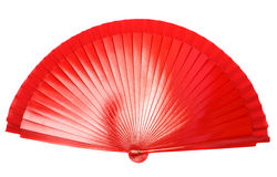 Red fan Stock Images