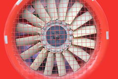 Red fan turbine background Stock Image