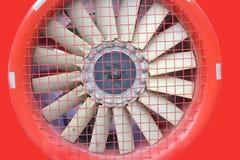 Red fan turbine background Stock Image