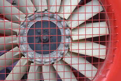 Red fan turbine background Royalty Free Stock Image