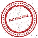 Red FANTASTIC OFFER distressed rubber stamp with grunge texture. Illustration Royalty Free Stock Images
