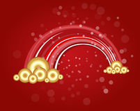 Red Fantasy Christmas Vector Illustration Background Royalty Free Stock Images