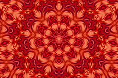 Red fantasy kaleidoscope. Kaleidoscope designed for relaxing leisure Stock Images