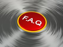 Red FAQ button Stock Image