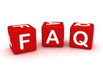 Red faq cubes. 3d concept Royalty Free Stock Photo
