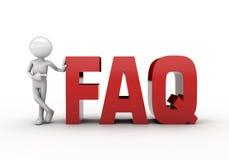 RED FAQ MAN Stock Photography