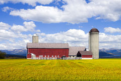 Red Farm Royalty Free Stock Photos
