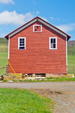 Red Farm Building Stock Photo