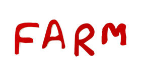 Red of farm text Royalty Free Stock Image