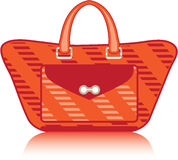 Red Fashion Bag Stock Images