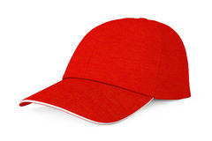 Red Fashion Baseball Cap. 3d Rendering. Red Fashion Baseball Cap on a white background. 3d Rendering Royalty Free Stock Photos