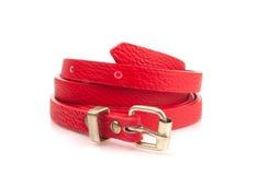 Red fashion belt Royalty Free Stock Photos