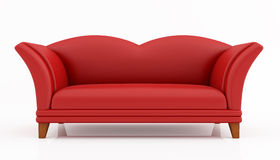 Red fashion couch Stock Photos