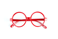 Red fashion glasses Royalty Free Stock Images