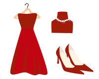 Red Fashion Icons Royalty Free Stock Images