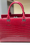 Red Fashion Leather Bag Stock Photos