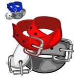 Red fashion leather belt. Clothing accessory Stock Image