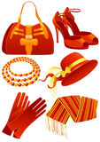 Red_fashion_objects Lizenzfreies Stockbild