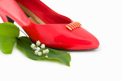 Red fashion shoe Royalty Free Stock Images