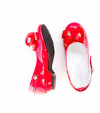 Red fashion shoe for kid Royalty Free Stock Images
