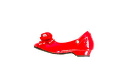 red fashion shoe for kid Royalty Free Stock Photos
