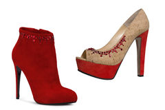 Red fashion shoes Stock Photo
