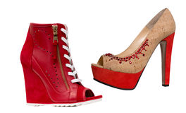 Red fashion shoes Royalty Free Stock Photography