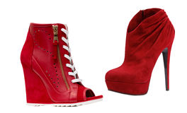 Red fashion shoes Royalty Free Stock Images