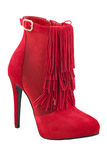 Red fashion shoes Stock Image