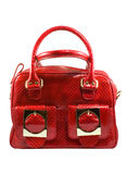 Red fashionable handbag Royalty Free Stock Images