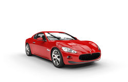 Red Fast Design Car. Isolated on white background Stock Photos