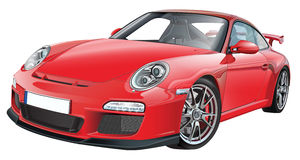RED FAST SPORTS CAR Royalty Free Stock Image