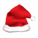 Red father christmas cap Royalty Free Stock Images