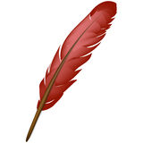 Red feather royalty free illustration