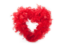 Red  feathers heart Stock Photo